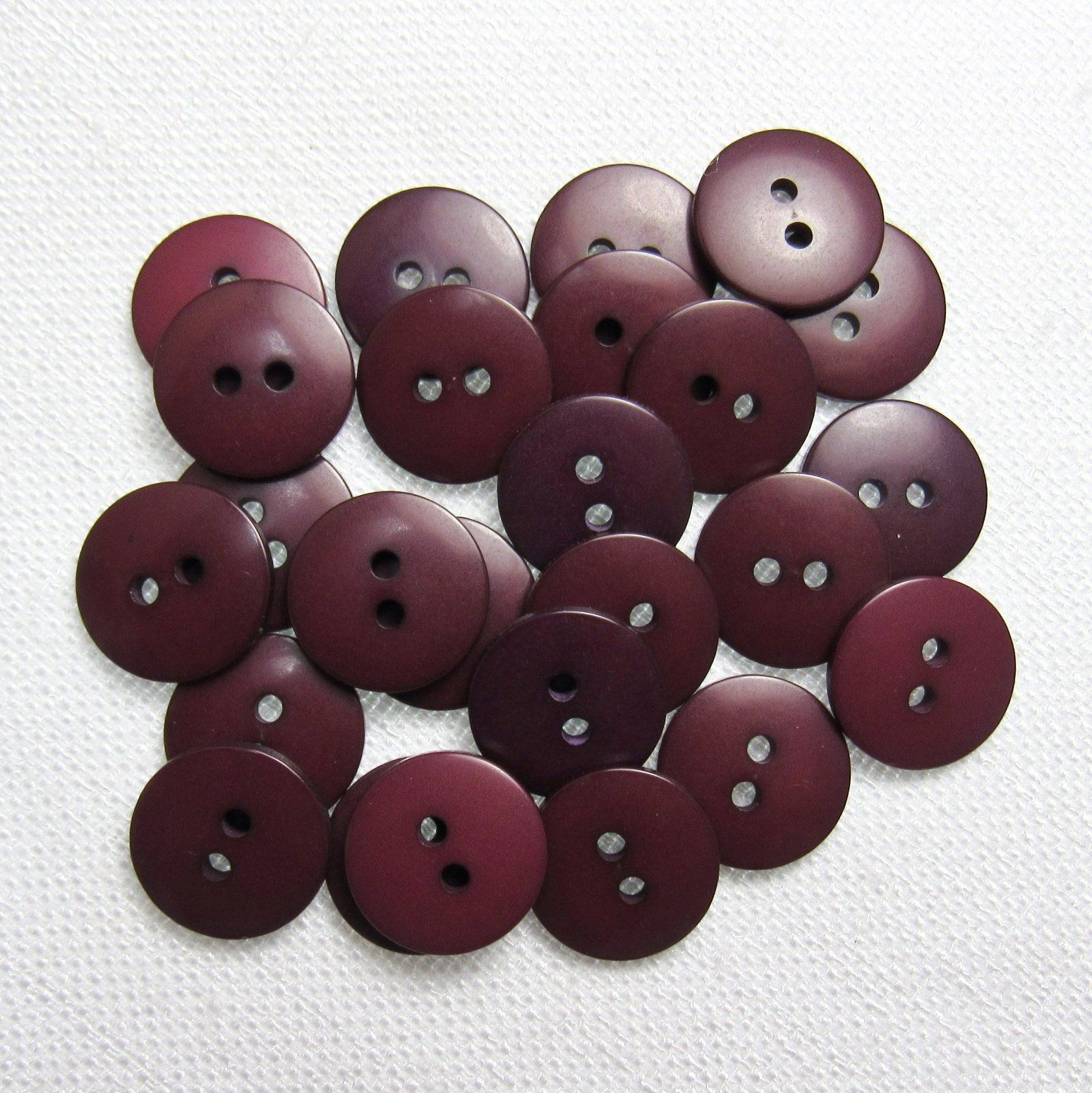 8 x 13mm burgandy  Buttons
