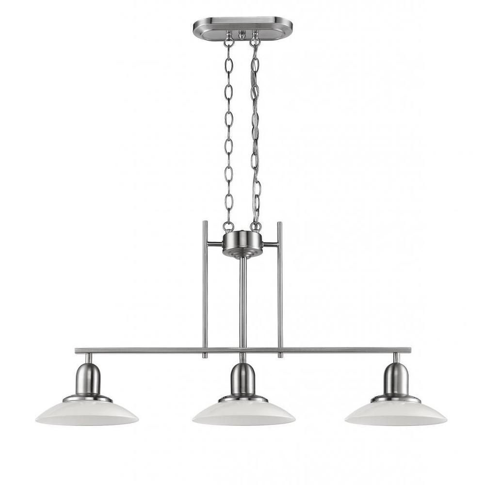 chloe lighting contemporary brushed nickel 3 light island pool chloe lighting contemporary brushed nickel 3 light island pool table light