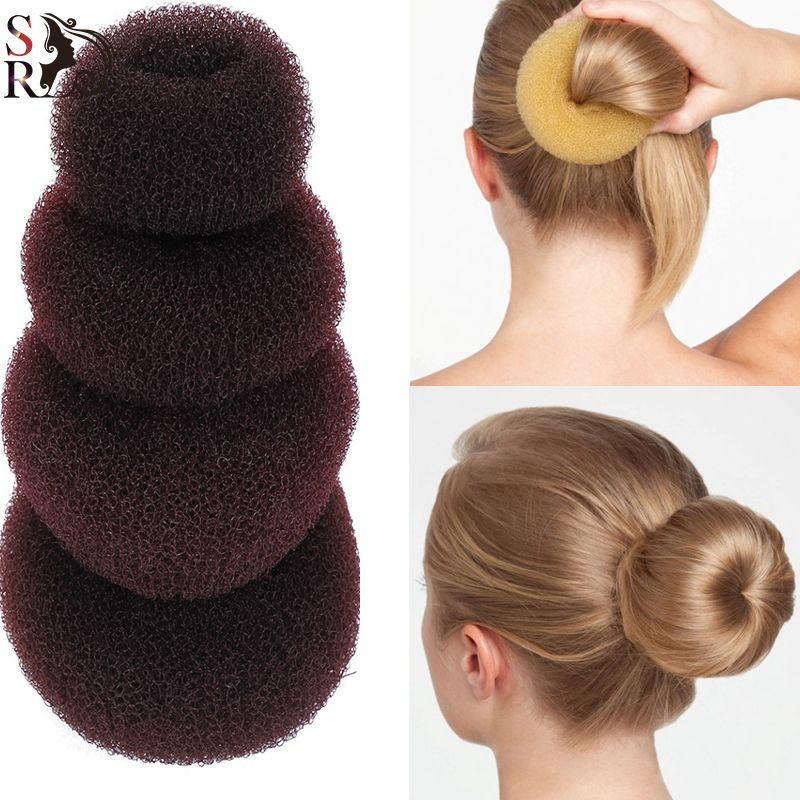 1pc Plate Hair Donut Bun Heart Maker Magic Foam Sponge Styling Tool Princess Hairstyle Accessories Elacstic Bands