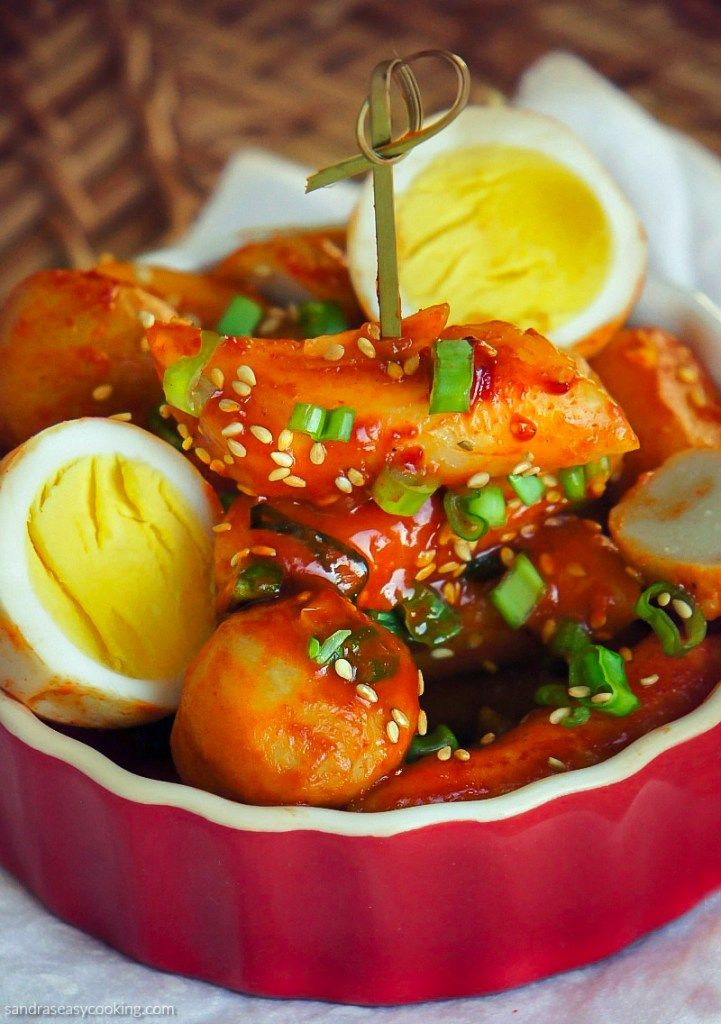Korean spicy rice cakes tteokbokki 떡볶이 recipe spicy