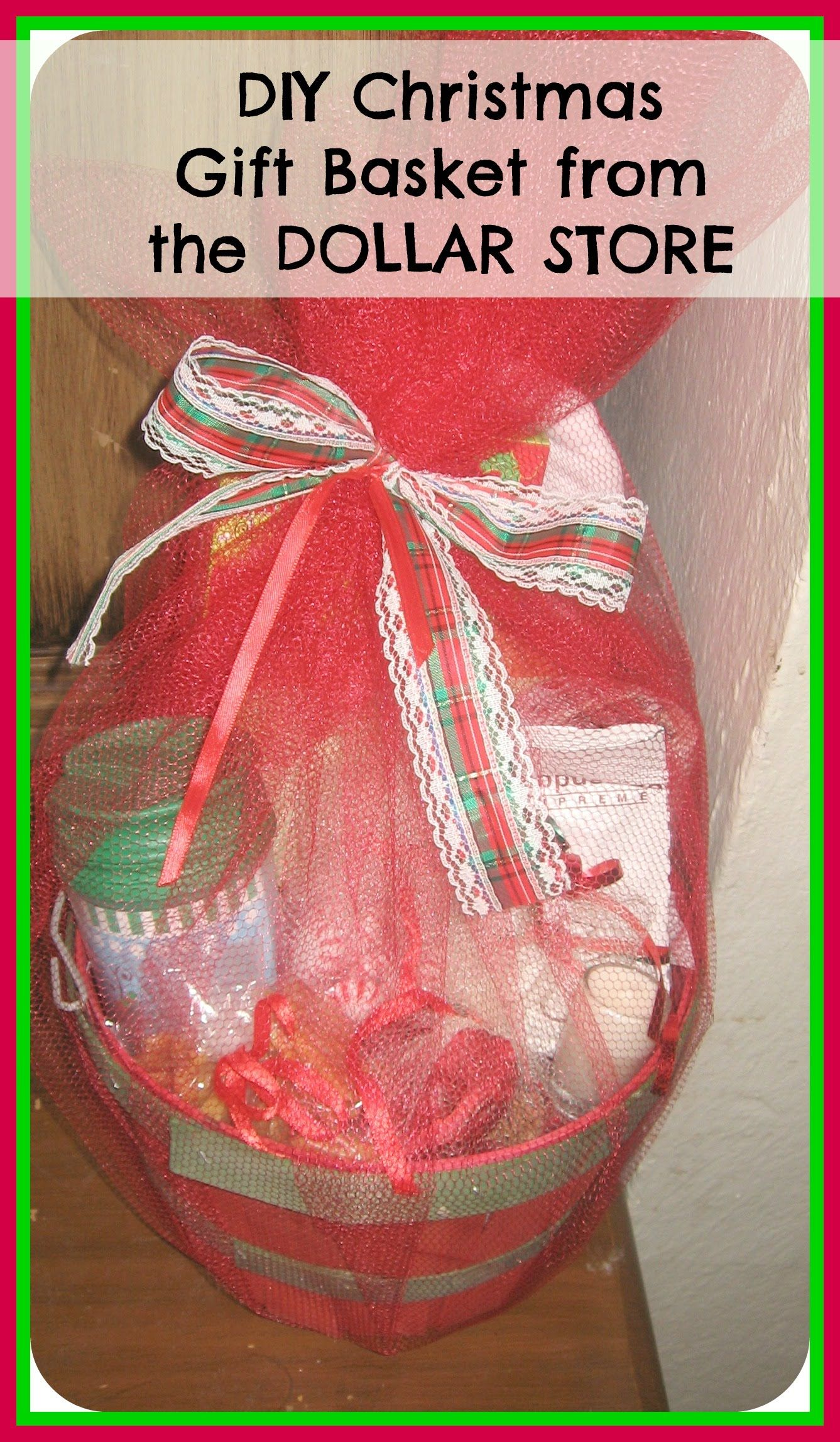 Diy How To Make Christmas Gift Basket From The Dollar Store