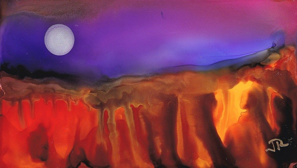 """Dreamscape No. 659"" original fine art by June Rollins"