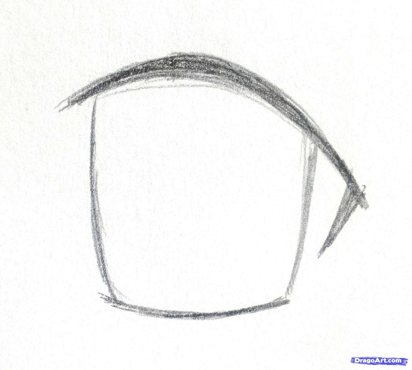How I Draw Anime Eyes Step 1 How To Draw Anime Eyes Anime Eyes Eye Drawing