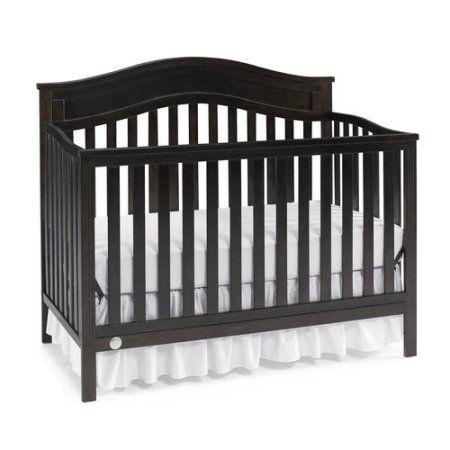 Fisher-Price Aubree 4-in-1 Convertible Crib, Dark Roast