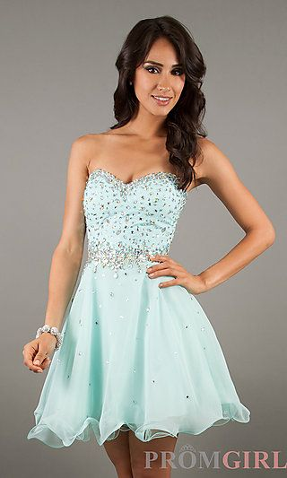 Short Strapless Homecoming Dresses