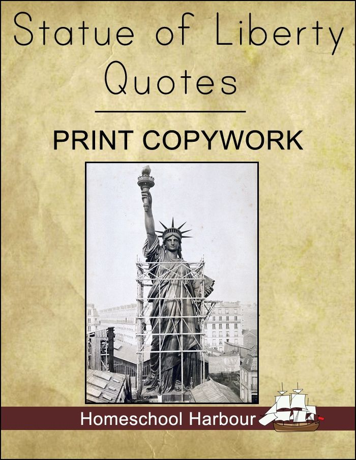 Statue Of Liberty Quote The Statue Of Liberty Quotes Print #copywork Notebook At #currclick .
