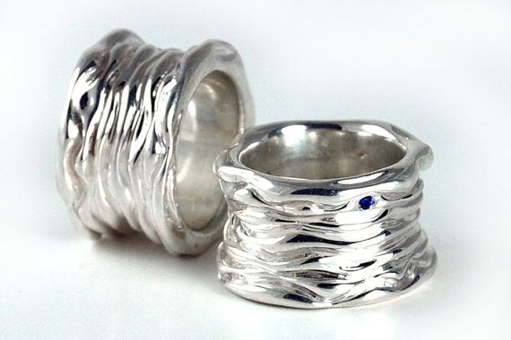 Chunky Silver Ring Solid Silver Ring Big Silver by FineJewelryAS 82a62f3b1f47