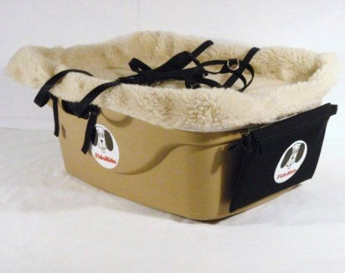 2 Seater Dog Car Seat Finish Tan Lining Color Sherpa Beige Harness Sizes Small and Small * Read more reviews of the product by visiting the link on the image.