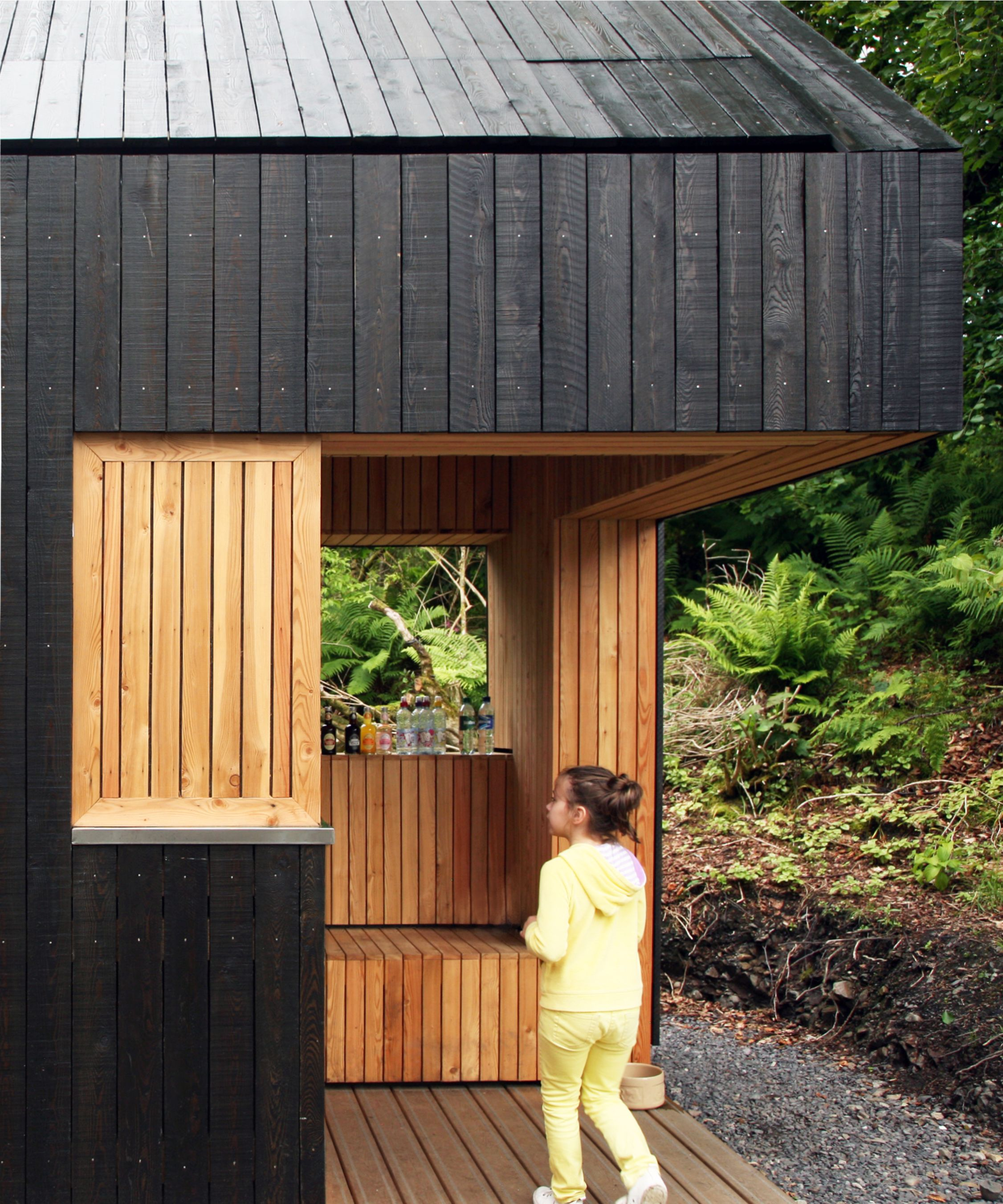 Russwood S Charred Larch Uses European Larch Timber Which Has Been Produced In A Controlled
