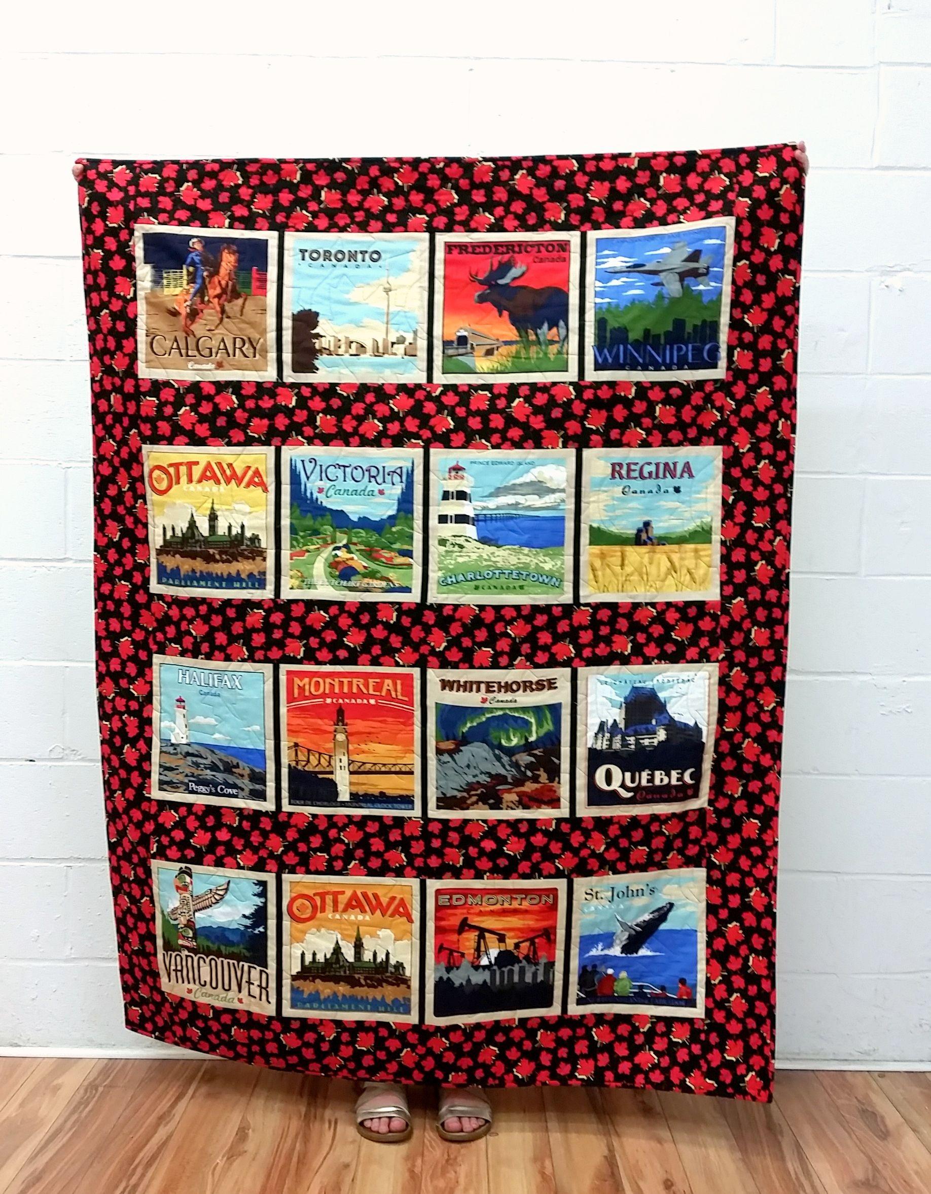 Canada 150 Quilt Canadian Lap Quilt by QuiltyPleasuresCraft | O ... : canadian quilt - Adamdwight.com
