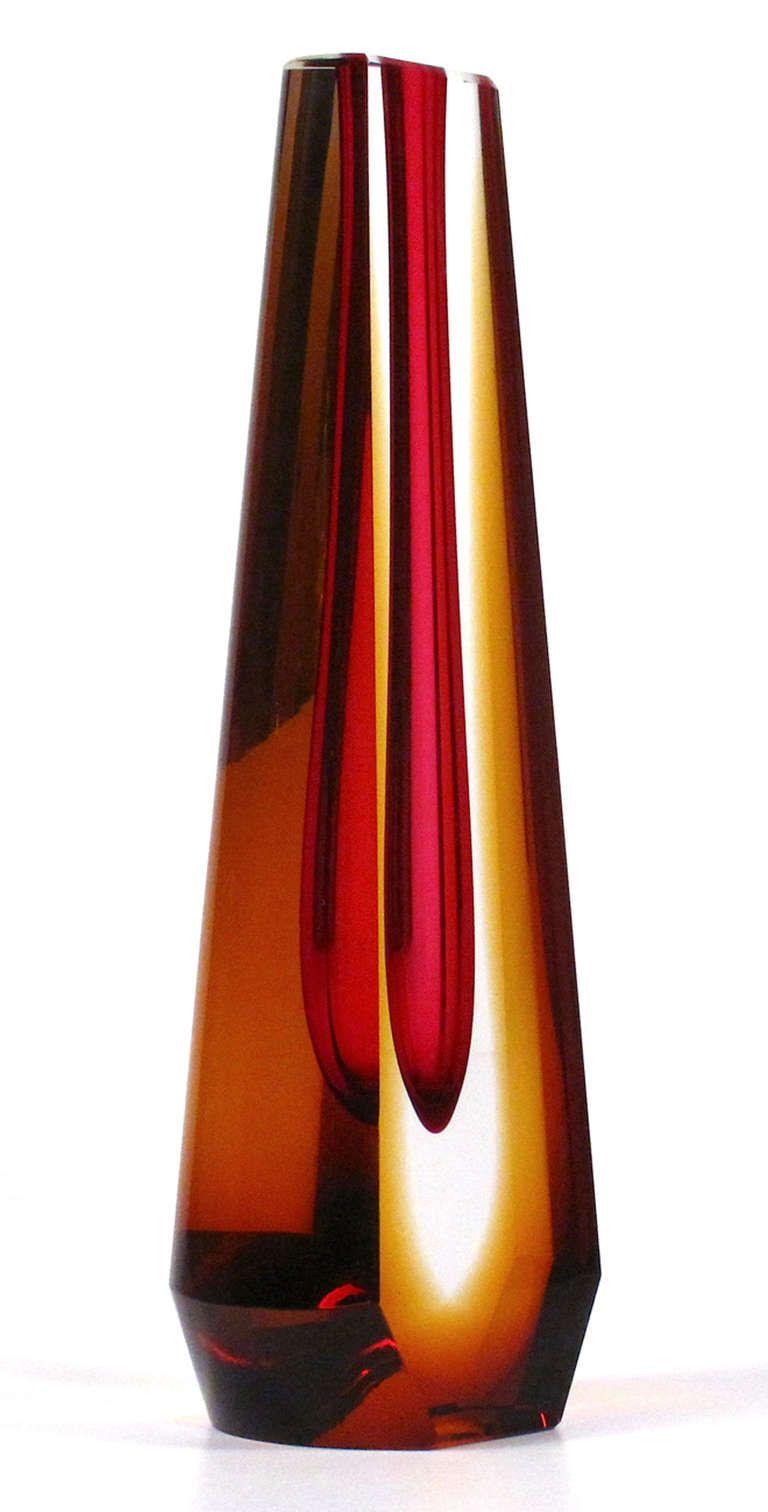 Spectacular Vase By Pavel Hlava 2 Glass Bottles Art Glass Art Blown Glass Art