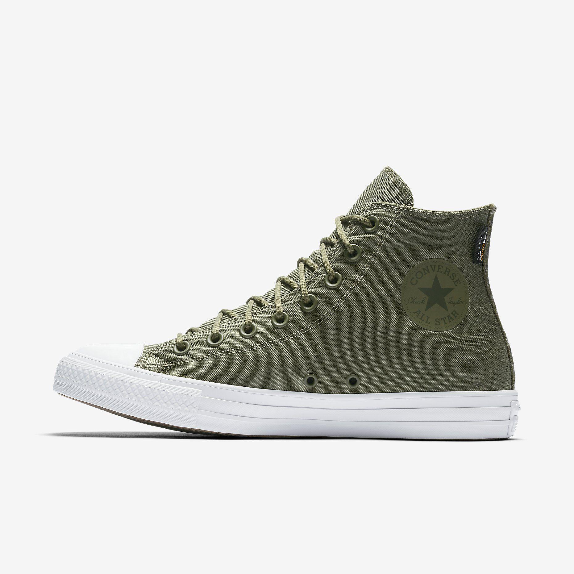 0eacf9a7b4bf90 Converse Chuck Taylor All Star Cordura High Top in Medium Olive via Nike.com