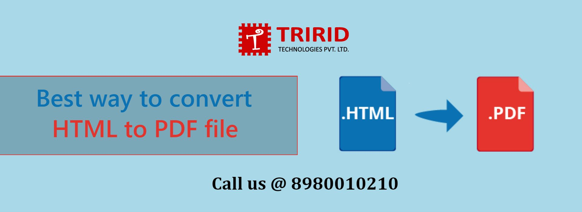 What is the best way to convert HTML to PDF file? tririd