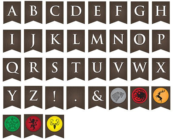 Printable Game of Thrones Party Banner ... Use par LLPapergoods