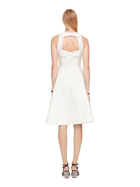double bow back dress - Kate Spade New York [www.katespade.com]