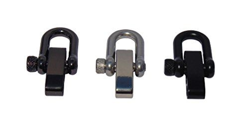 Pack of 3 TypeIII Adjustable Stainless Steel Shackle Variety Pack For Paracord Bracelets -- You can find out more details at the link of the image.(This is an Amazon affiliate link and I receive a commission for the sales)
