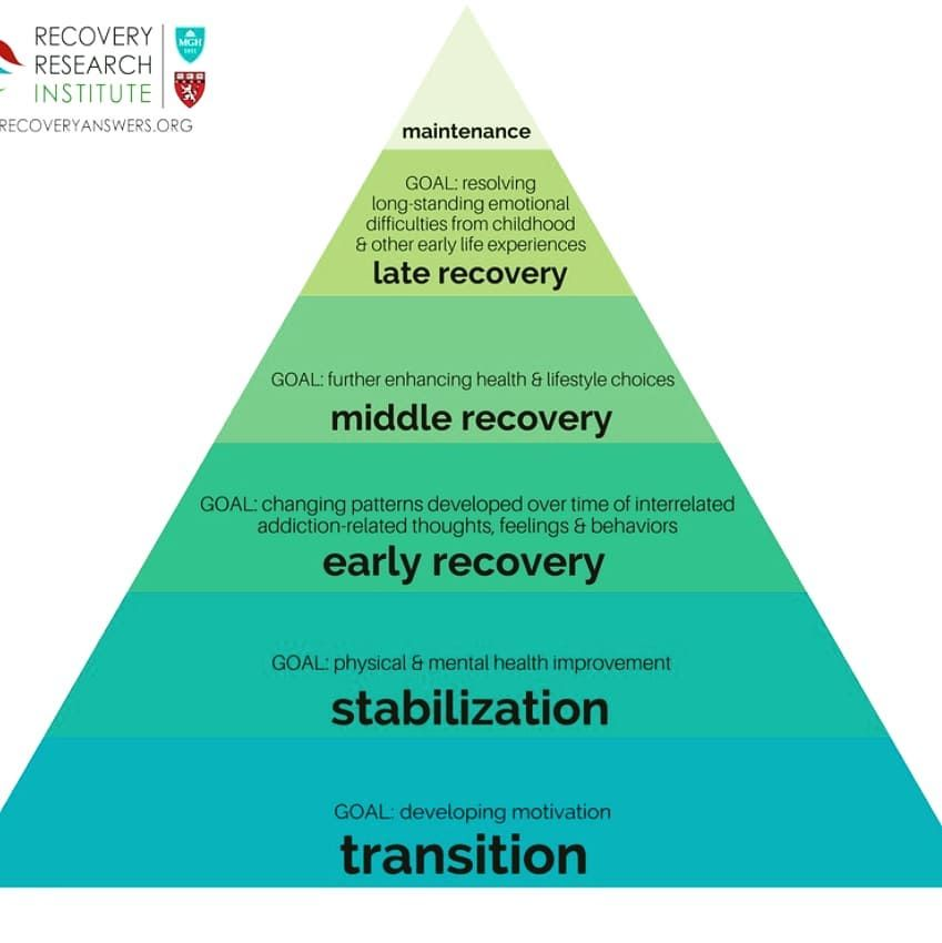 Hierarchy Of Needs Model For Recovery From The Recovery Research Institute A Non Profit Research Organization Part Research Institute Recovery Model Recovery