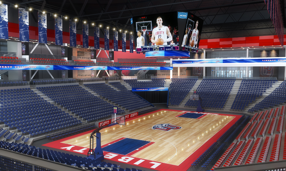 Sports Arena Design Basketball Arena Design University Sports Arena Design In 2020 With Images Liberty University Sports Arena University