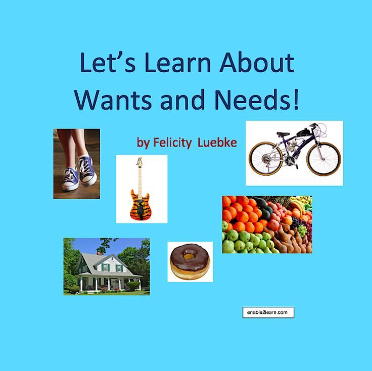 Let's Learn About Wants And Needs