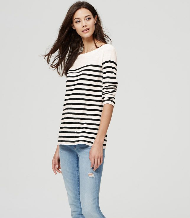 Thumbnail Image of Primary Image of Striped Bateau Tee