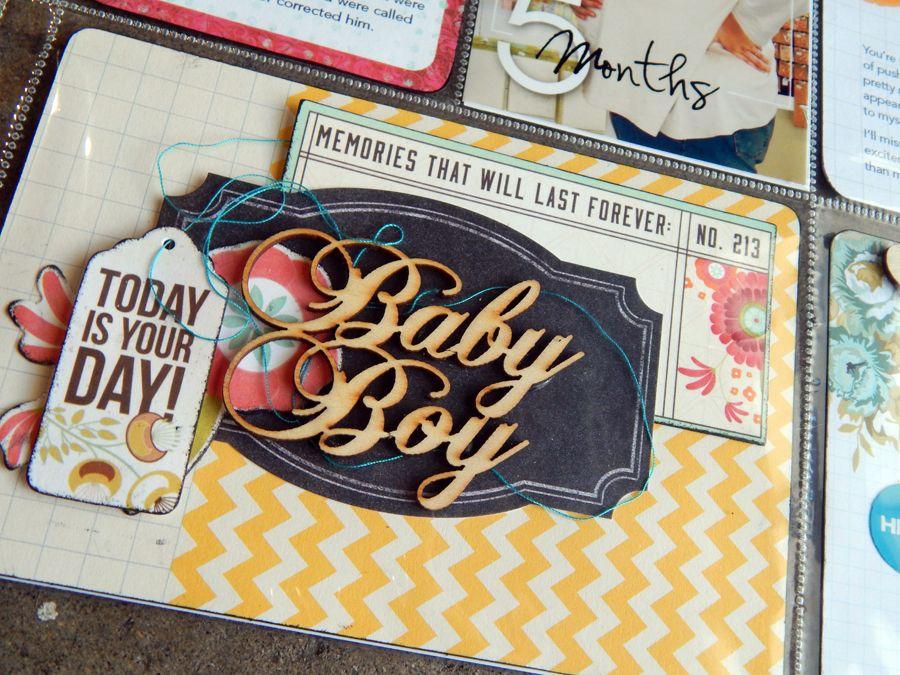 layered baby boy card