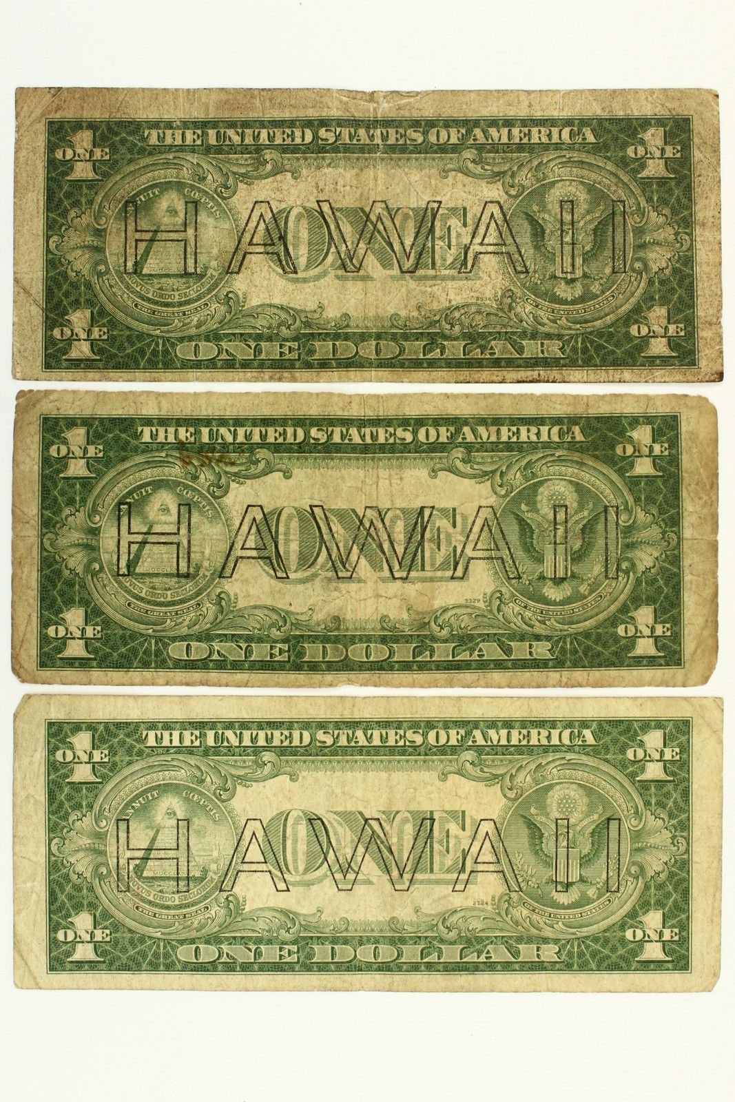 1935 a lot of 3 one dollar 1 hawaii silver certificates notes 1935 a lot of 3 one dollar 1 hawaii silver certificates notes brown seal wwii xflitez Gallery