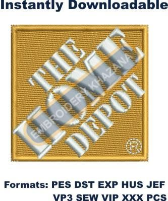 The Home Depot Logo Embroidery Designs In 2020 Embroidery Logo Embroidery Designs Free Embroidery Designs
