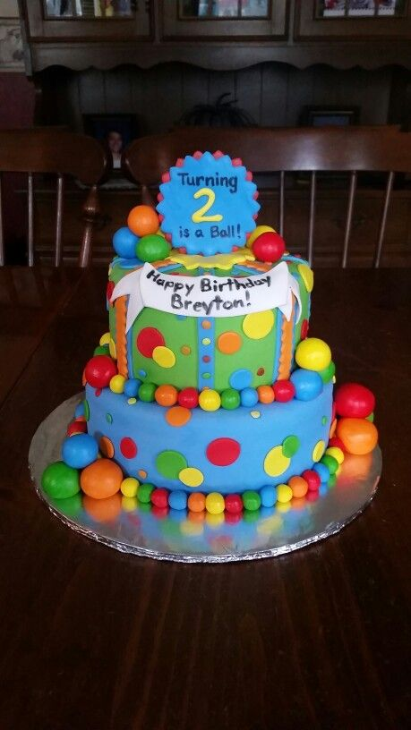 Pleasant Bouncy Ball Cake With Images Bouncy Ball Birthday Ball Theme Funny Birthday Cards Online Inifodamsfinfo