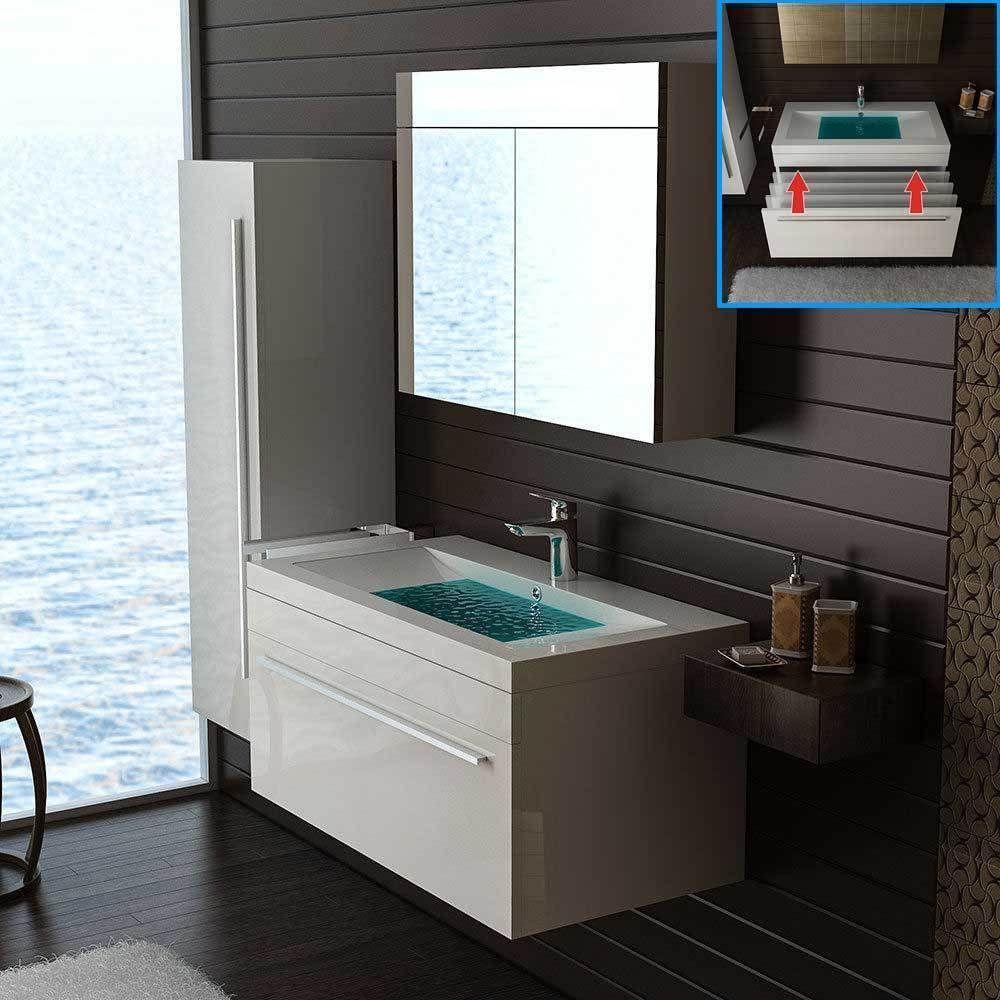 Details Zu Waschbeckenunterschrank Gaste Wc Waschtisch Mit