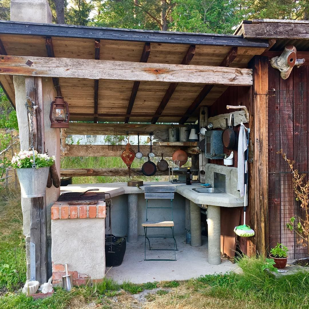 from rustic to over the top fancy outdoor kitchen rustic outdoor kitchens backyard kitchen on outdoor kitchen yard id=55916