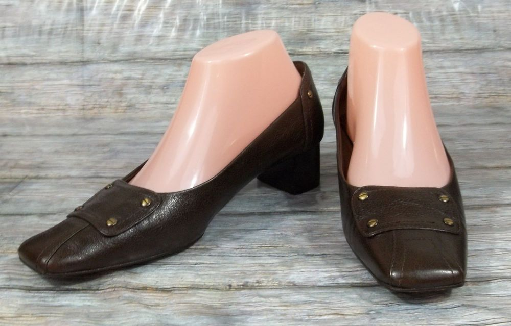 fcc2a96c03 Liz Claiborne Heels Womens Size 7 M Brown Leather Pumps Shoes #LizClaiborne  #PumpsClassics