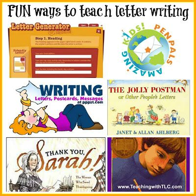 Fun Ways To Teach Letter Writing  Language Arts Language And