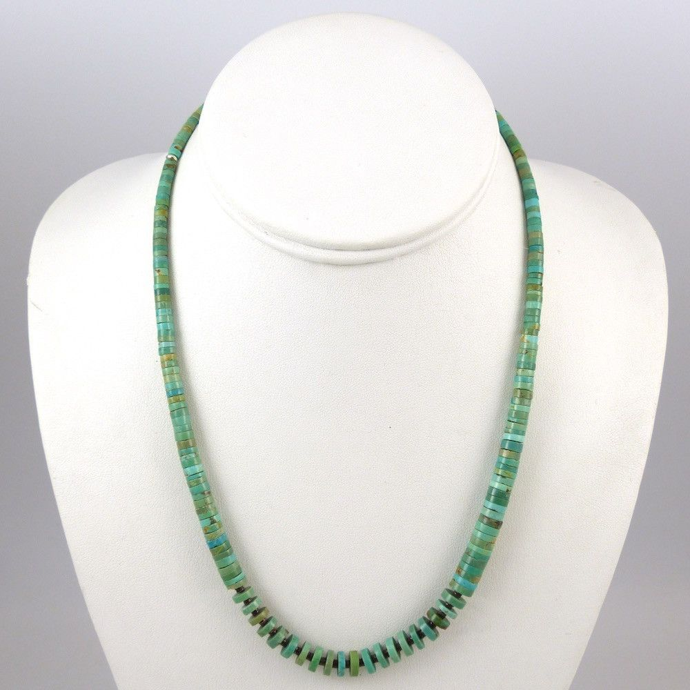 Kingman Turquoise and Shell Necklace