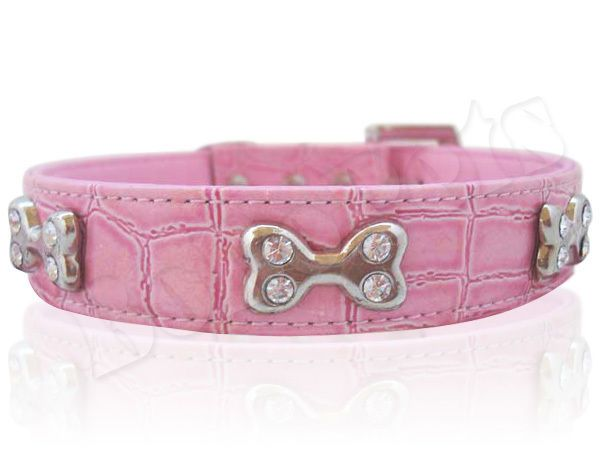 Dog Collars Red Leather