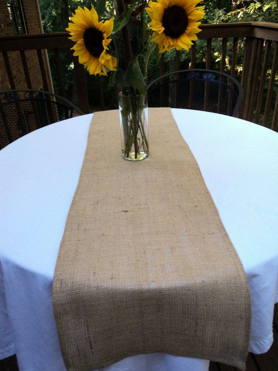 Table Runners Wedding, Burlap Runners On Round Tables