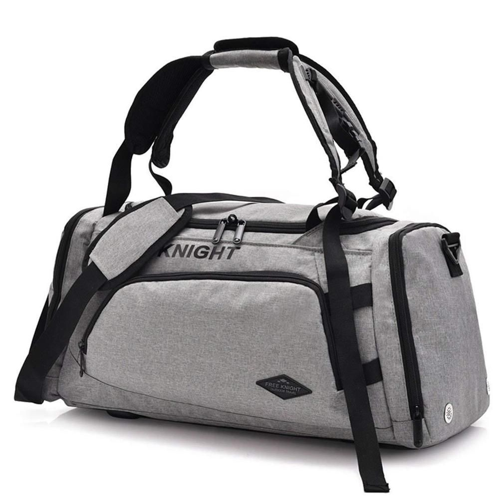 4ce921f0579f Sports Gym Bag with Shoes Compartment Travel Duffel Bag for Men and Women  Grey  Unbranded