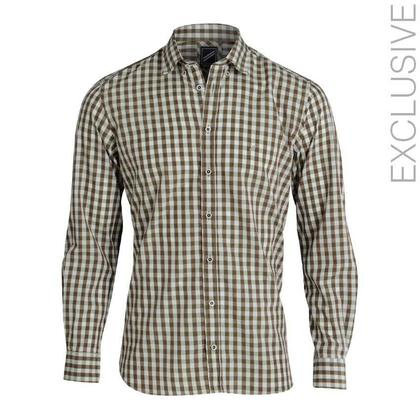 a8e9796a019 Daniel Hechter Green Cotton Apron Checkered Shirt