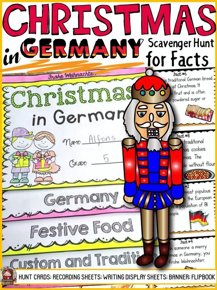 christmas in germany fact cards will take your students on a scavenger hunt for interesting facts