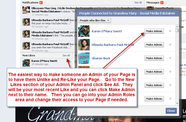 How To Easily Add A Facebook Admin To Your Page Facebook Marketing Ads Admin