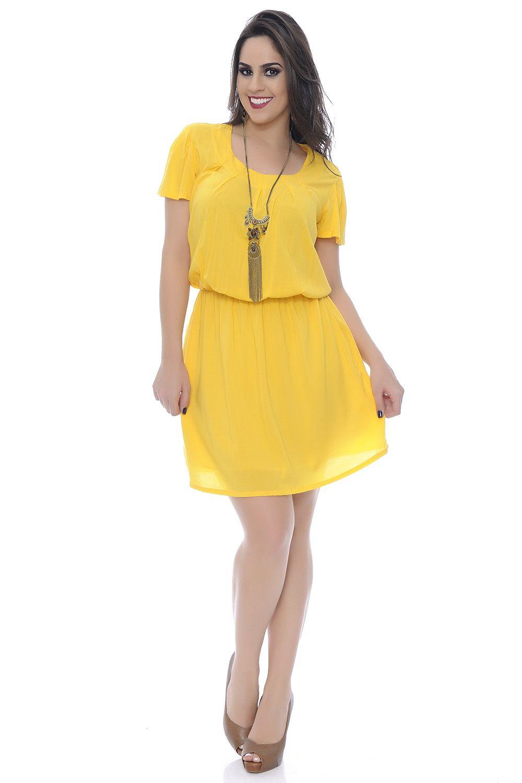 fd74e767a Vestido de viscose manga curta Plus Size - Chic e Elegante | Modelos ...