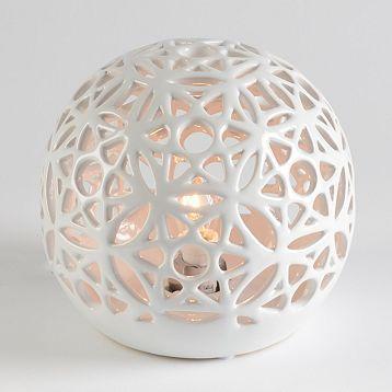 Product Details Ceramic White Pierced Night Light Ceramic Clay Porcelain Polymer