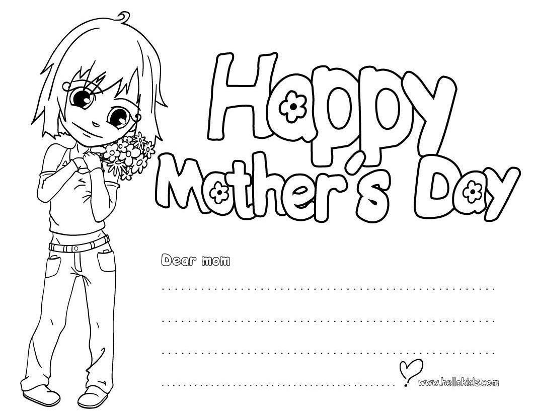 Image Result For Mother S Day Flower Clip Art Black And