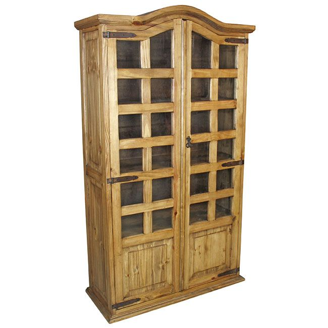 Mexican Pine Bookcase Cabinet. Mexican pine bookcase cabinet with ...