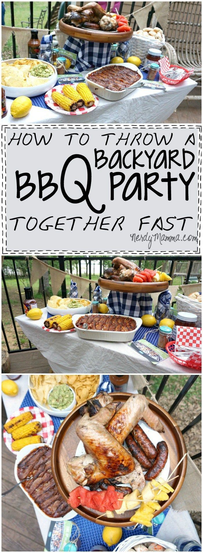 how to throw a backyard bbq party together fast u0026 a giveaway