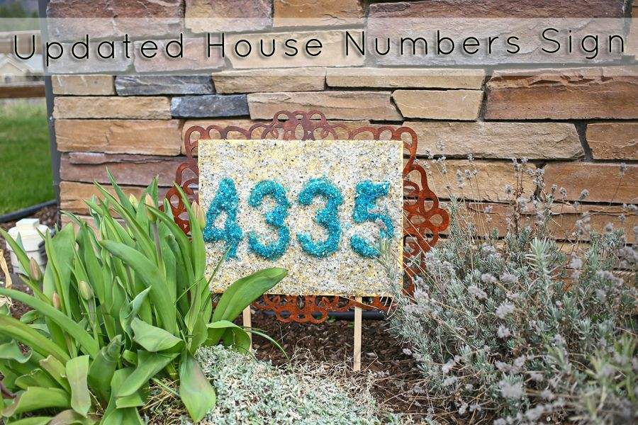 DIY Updated House Numbers Sign from KleinWorthCo