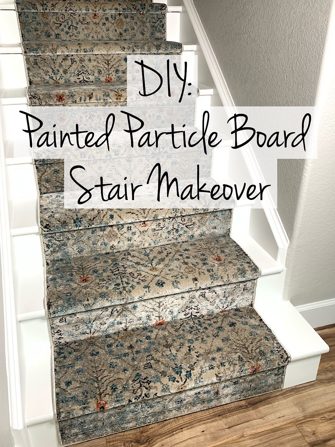 Diy Painted Particle Board Stair Makeover – Dynamically Essential | Replacing Particle Board Stair Treads | Basement Stairs | Carpeted Stairs | Plywood | Stair Nosing | Stair Case