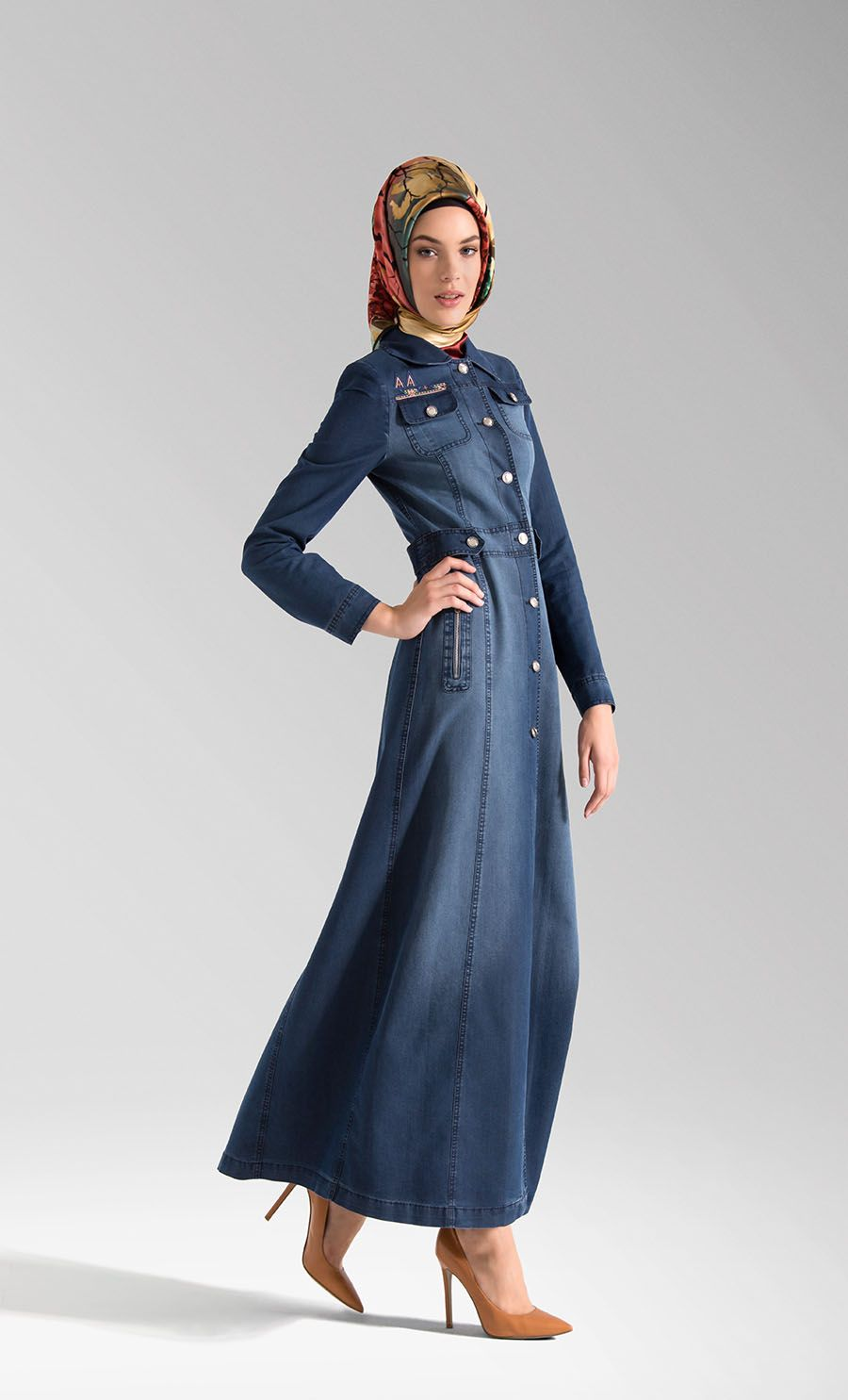 adc08c0920 denim abaya. Find this Pin and ...