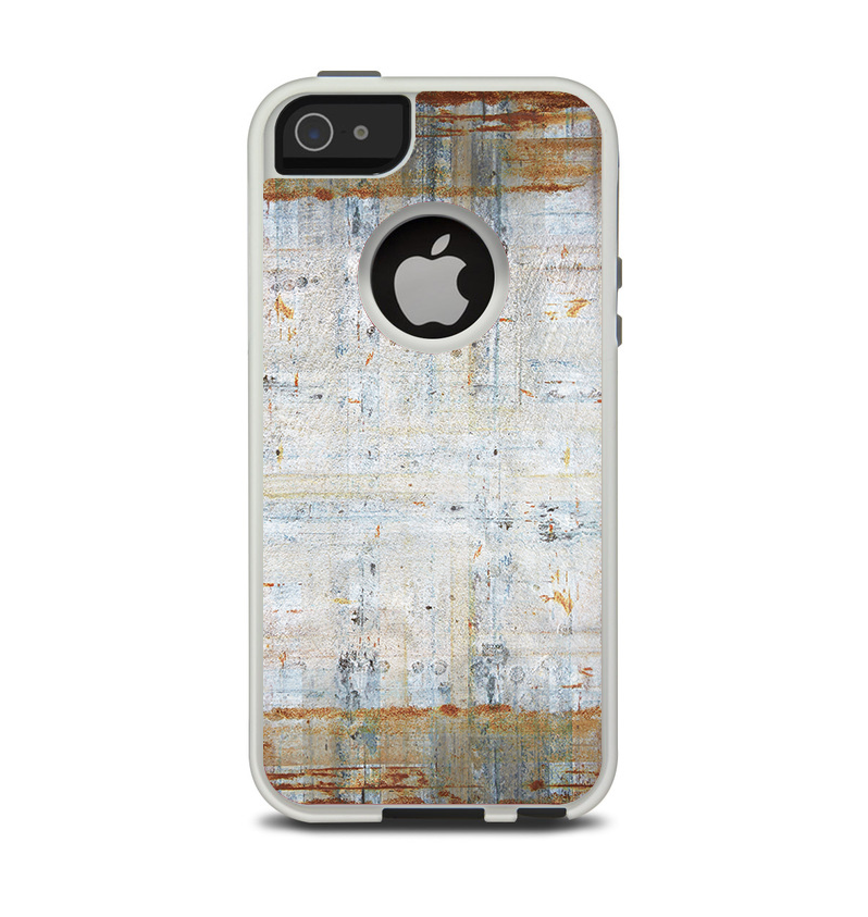 The Painted Grunge Rusted Panel Apple iPhone 5-5s Otterbox Commuter Case Skin Set