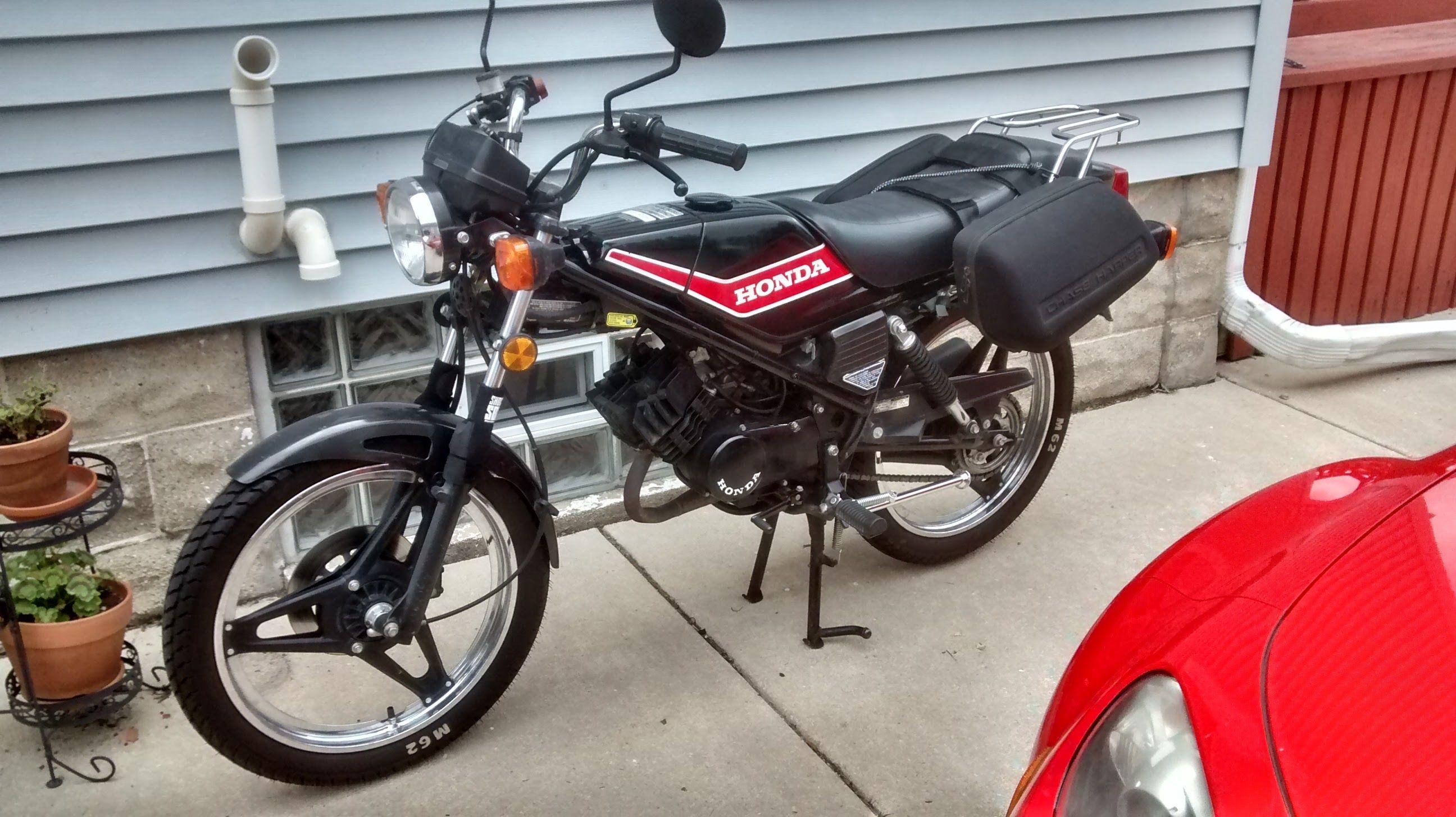 MB5 and saddlebags | The Honda MB5 | Pinterest | 50cc moped and Honda