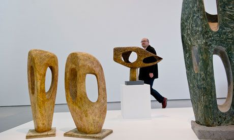 Barbara Hepworth sculptures donated to the Hepworth Wakefield via an Art Fund scheme. Photograph: Sarah Lee for the Observer